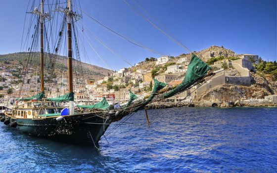 sailing ship, ship, sea, Greece, nature