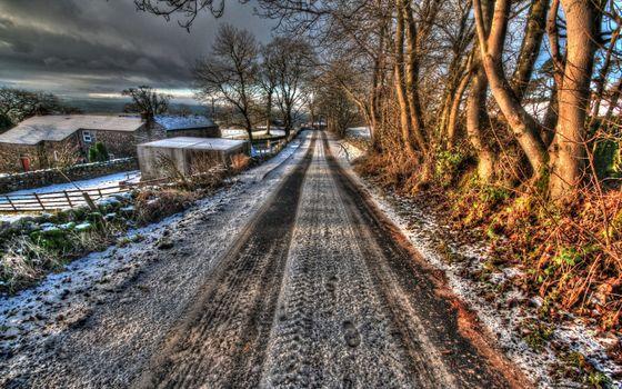 дорога, зима