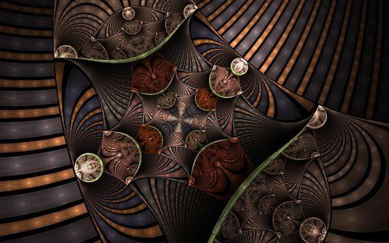 digital art, fractal, 3d, background