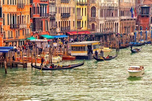 Venice, Boat, gondola, Tourists