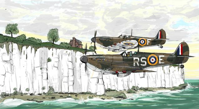 picture, aviation, aircraft, British, World War II