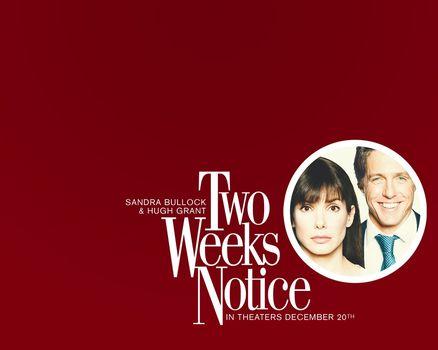Semanas de antecedncia, Duas semanas de antecedncia, filme, filme
