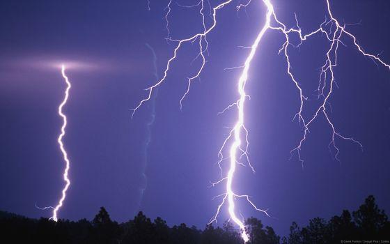 nature, lightning, sky