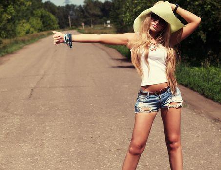 girl, vote, road