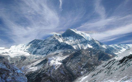 небо, горы, пейзаж1