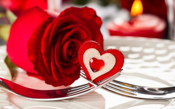 flowers, Flower, happy, valentines, day, red, rose, heart