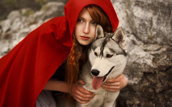 Animals, animal, dogs, dog, husky, girl