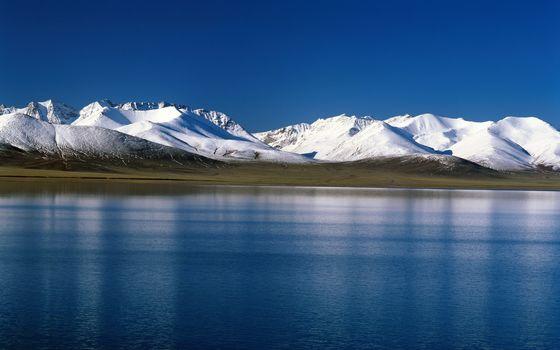 тундра, снег, горы