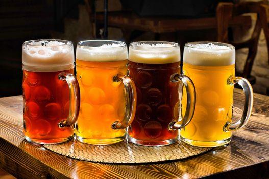 beer, table, COLOR, stemware, foam, view, LIQUID