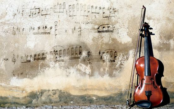 Music, music, wall, violin