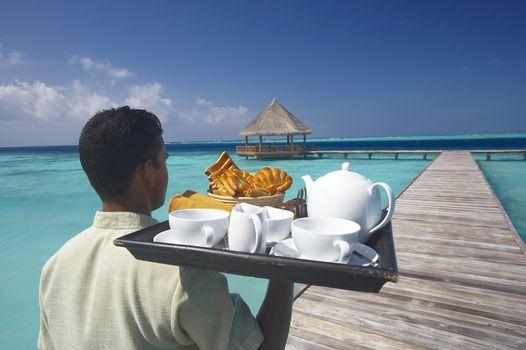 food, clouds, ocean, tray, PEARCE, sky, man