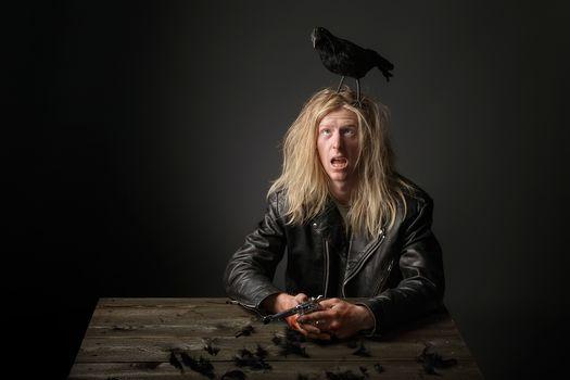 crow, muzhik, plumage