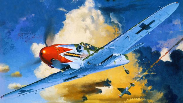 fight, Art, fighter, aircraft, drawing