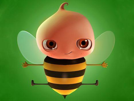 пчела, зеленый
