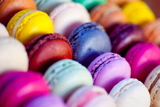 cookies, food, colorful, macaroons