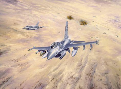 "light, land, ""Desert Storm"", sky, Iraqi, Explosions, drawing, Multifunctional, Kuwait, Tank, aircraft, Art, operation, fighters"