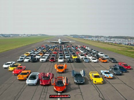 Supercars, road, plane, Supercars