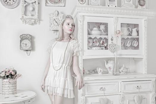 porcelain doll, watch, china, bouquet