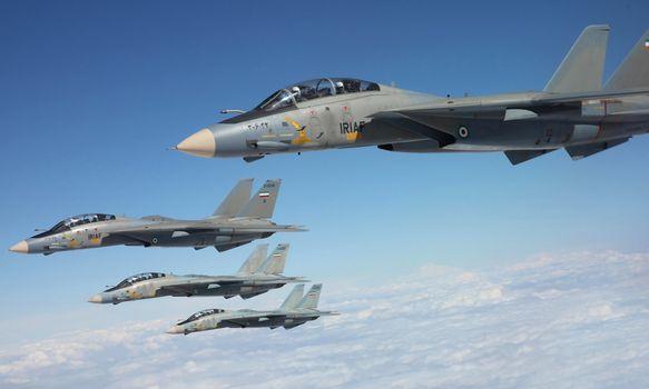 sky, fighters, Deck