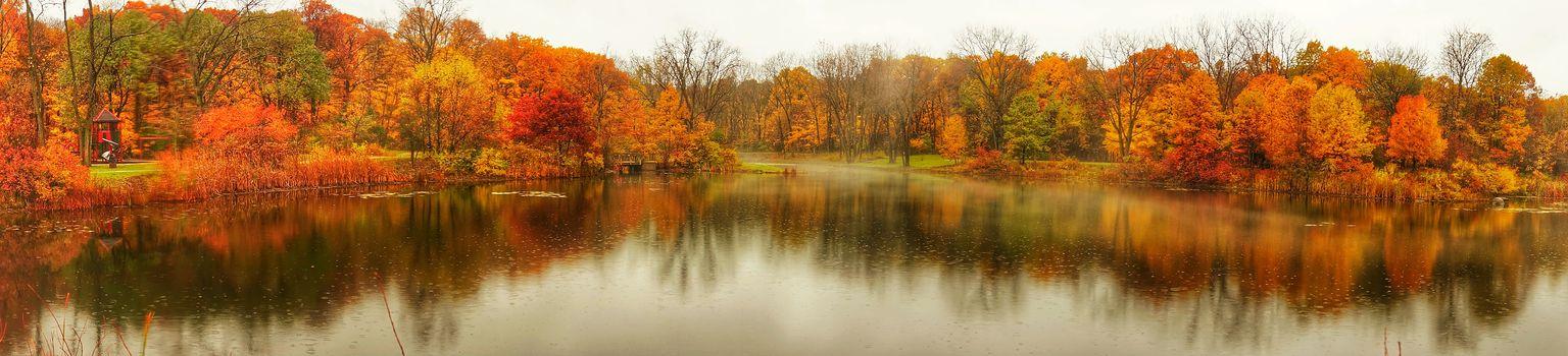 Панорама картинки осень