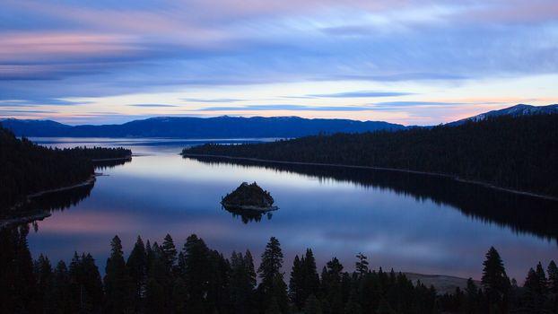 Lake, Reflections, sunrise