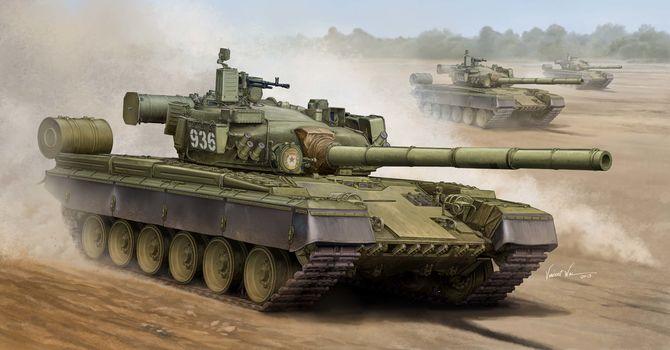 Art, tank, Russia, Russian T-80B MBT