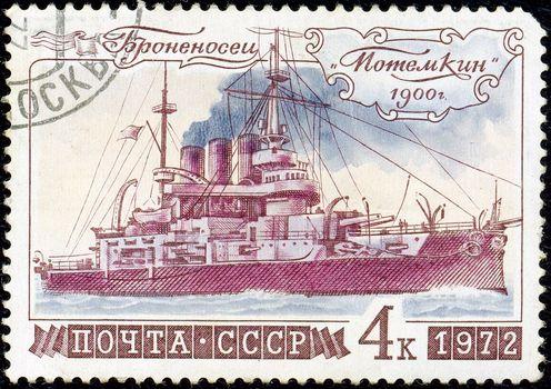 Post Office, stamp, ussr, armadillo, Potemkin, ship