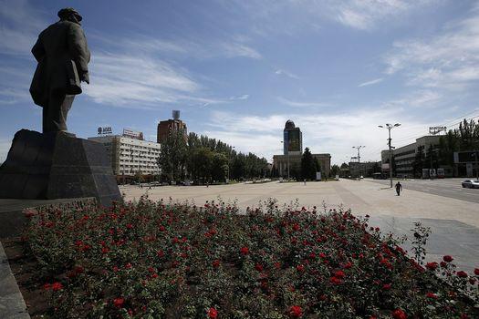 Novorossia, Donetsk, Donbass, city, area, monument, lenin