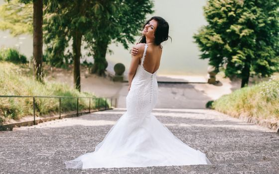 Aurela Skandaj, Wedding Dress, dress, decollete, mood, ladder