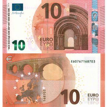 money, euros, bill, note, 10