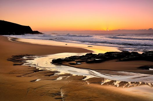 Beach South Wales, Australia, sunset, landscape
