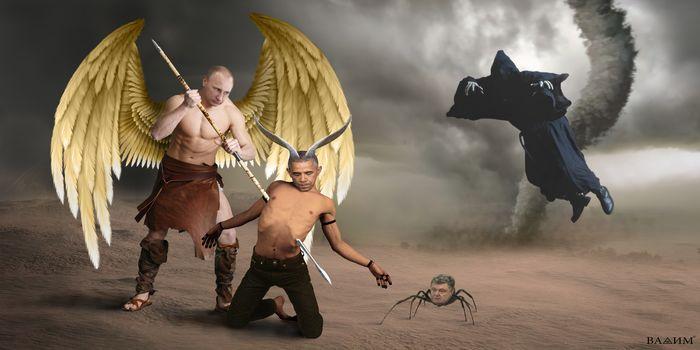 putin, Obama, Poroshenko, policy, art, Art, punishment, Russia, Ukraine, USA