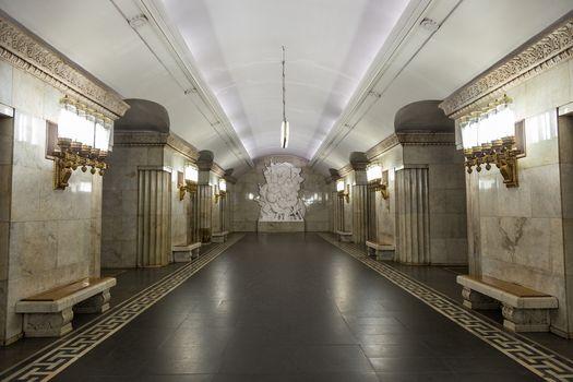 station, metro, Smolensk, Moscow, Russia, city, interior