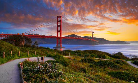 The Golden Gate Bridge, the Golden Gate, Frisco