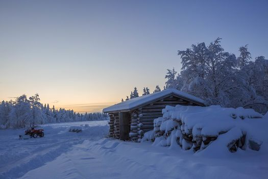 winter, snow, home, trees, Finland