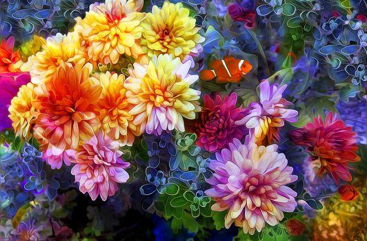 Flowers, 3d, art