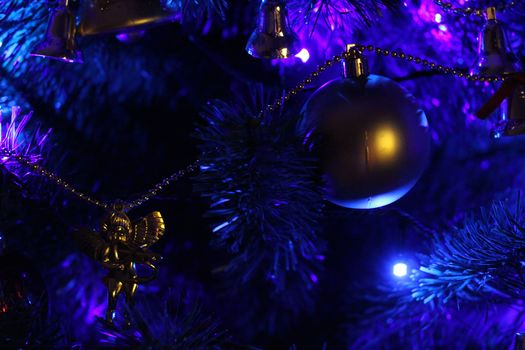 Christmas tree, Garlands, lights, Toys, Christmas Wallpaper, New Year