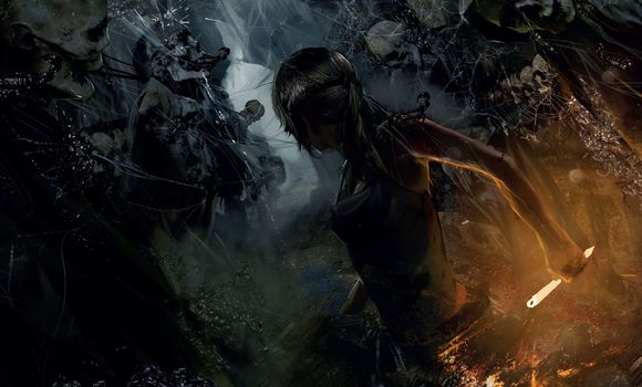 Rise of the Tomb Raider, Tomb Raider, Lara Croft, skeletons, Art