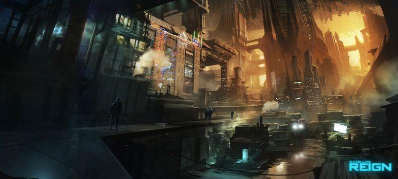 Satellite Reign, city, future