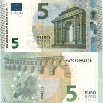 money, euros, bill, note, finance, currency, gate, Europe, 5, five, antiquity, CLASSICS