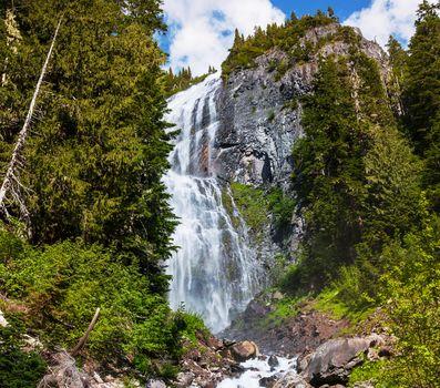 waterfall, waterfalls, nature, landscape, summer, Mountains