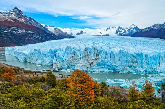 Perito Moreno is a glacier located in the Los Glaciares National Park in the southwest of the province of Santa Cruz, Patagonia region, Argentina