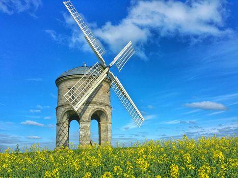 Chesterton Windmill, Warwickshire, United Kingdom, Chesterton Windmill, Warwickshire, UK, field, mill, landscape