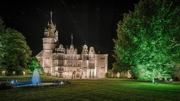 Castle Detmold, Germany, night