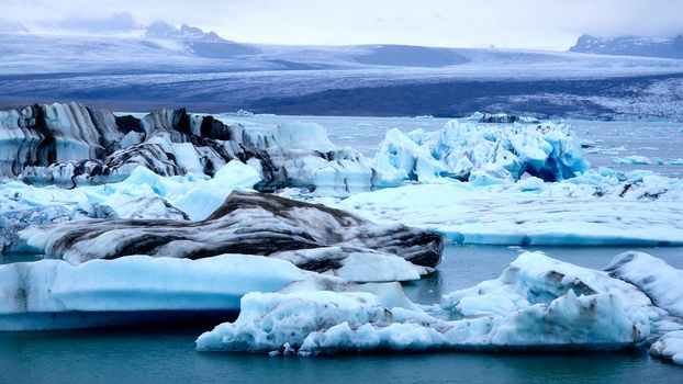 Iceland, ice, ice, glacier, floe, pond, winter