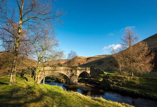 river, bridge, Hills, trees, landscape