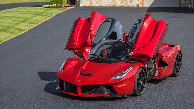 Ferrari LaFerrari, Ferrari, LaFerrari, sports car, красный