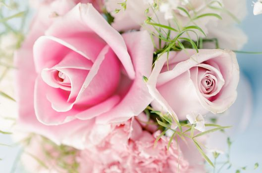 Personas by Kisenok, Roses, pink, Flowers, bouquet, COMPOSITION, white background
