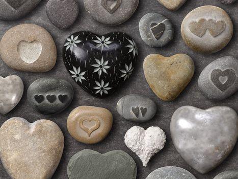 Personas by Kisenok, Valentine, Valentine's Day, holiday, heart, hearts, Heart, stones