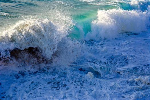 sea, waves, foam, spray, landscape